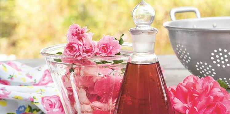 Sirop de pétales de roses