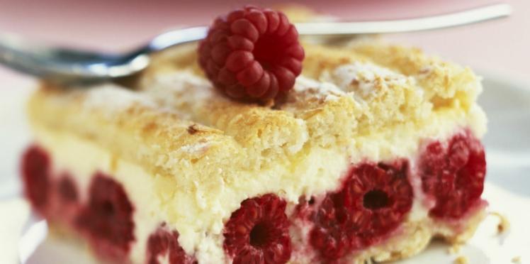 Le gâteau framboisier