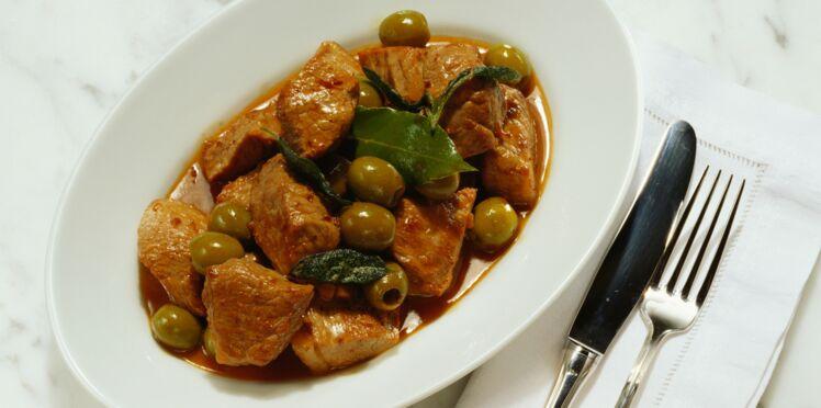 Rôti de veau aux olives