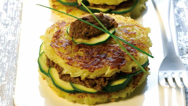 Tartelette de Dolwen au caviar d'aubergines et courgettes