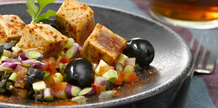 Thon au paprika, tartare d'avocat et tomate
