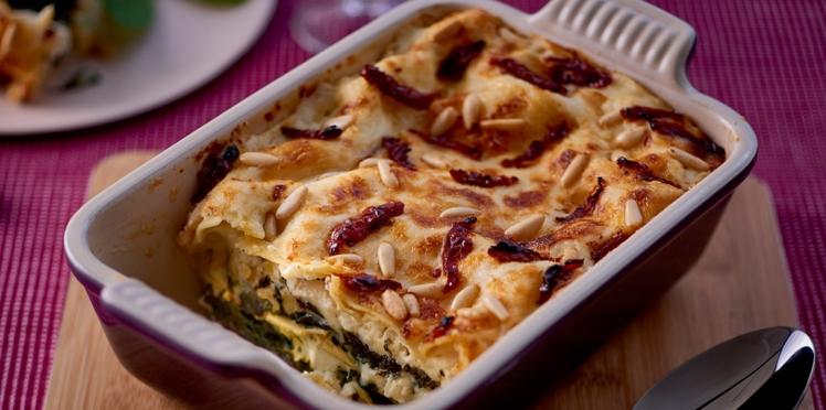 Lasagnes aux épinards et feta