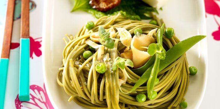 Nouilles soba aux premiers légumes