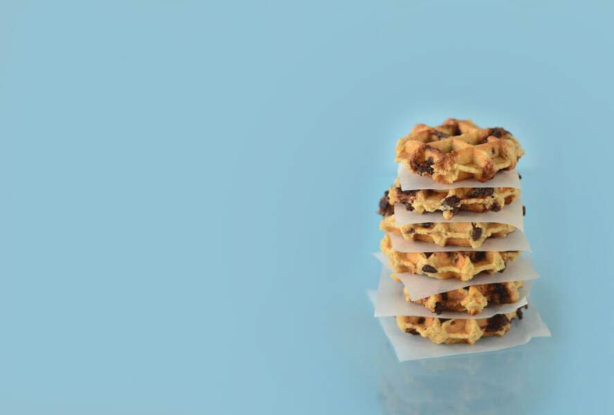 Cookie-gaufre, sarrasin-chocolat vegan