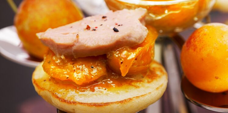 Bouchées de foie gras et Mirabelles de Lorraine aux 4 épices