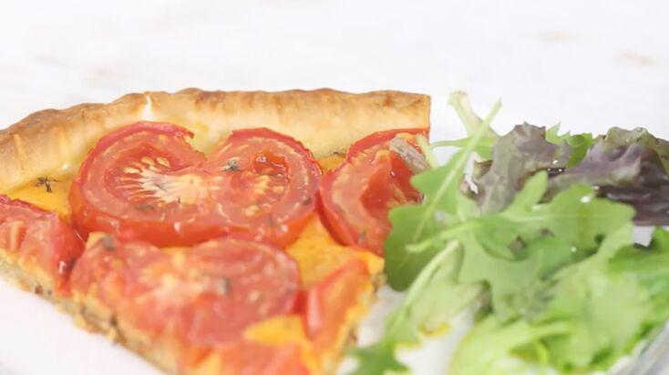 Vidéo : la recette de la tarte tomates et cheddar