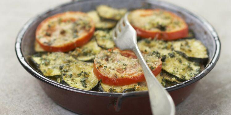 Courgettes et tomates au four