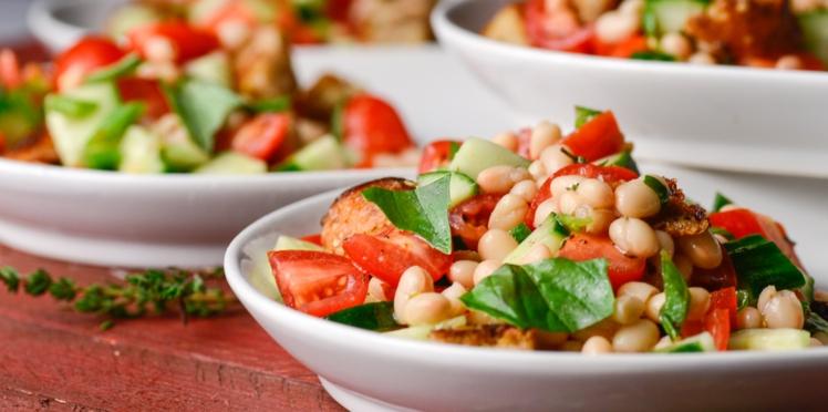 Salade tiède de haricots blancs