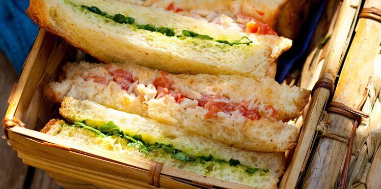 Sandwichs au tourteau et au cresson