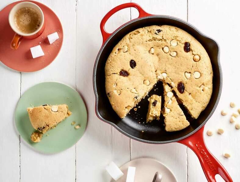 Cookie géant cranberries et pépites de chocolat blanc