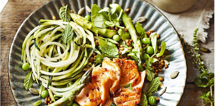 Salade d'épeautre au saumon frais