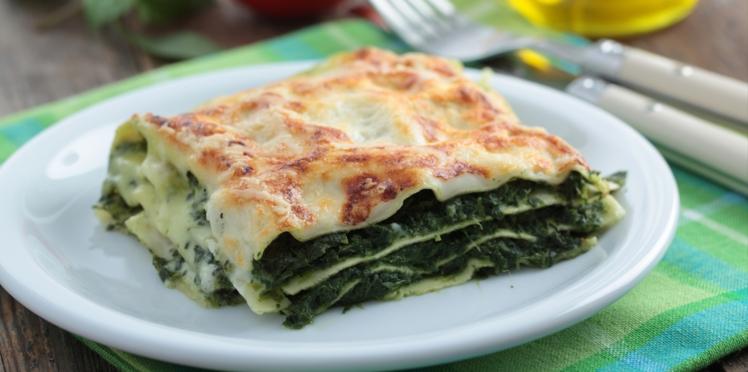 Lasagnes aux épinards et aux fruits secs