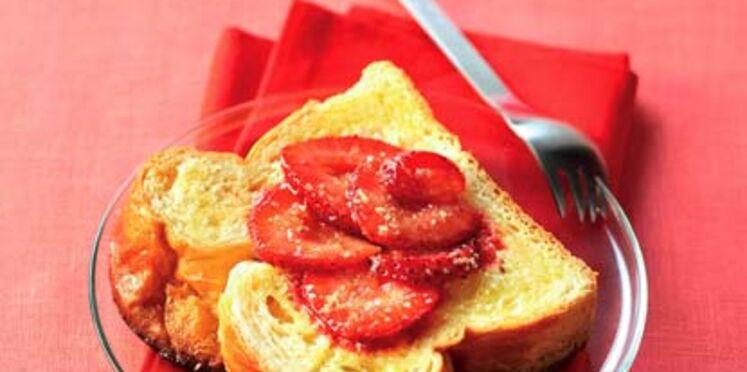Tartine aux fraises
