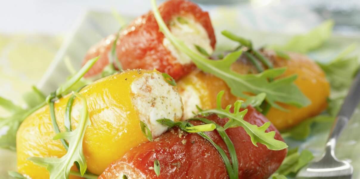Canellonis de poivrons rouges au carré frais