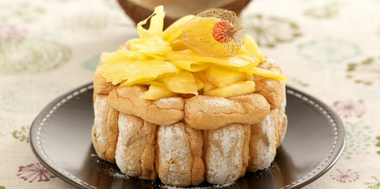 Charlotte ananas chantilly