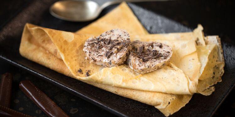 Crêpes au beurre de Carambar/chocolat