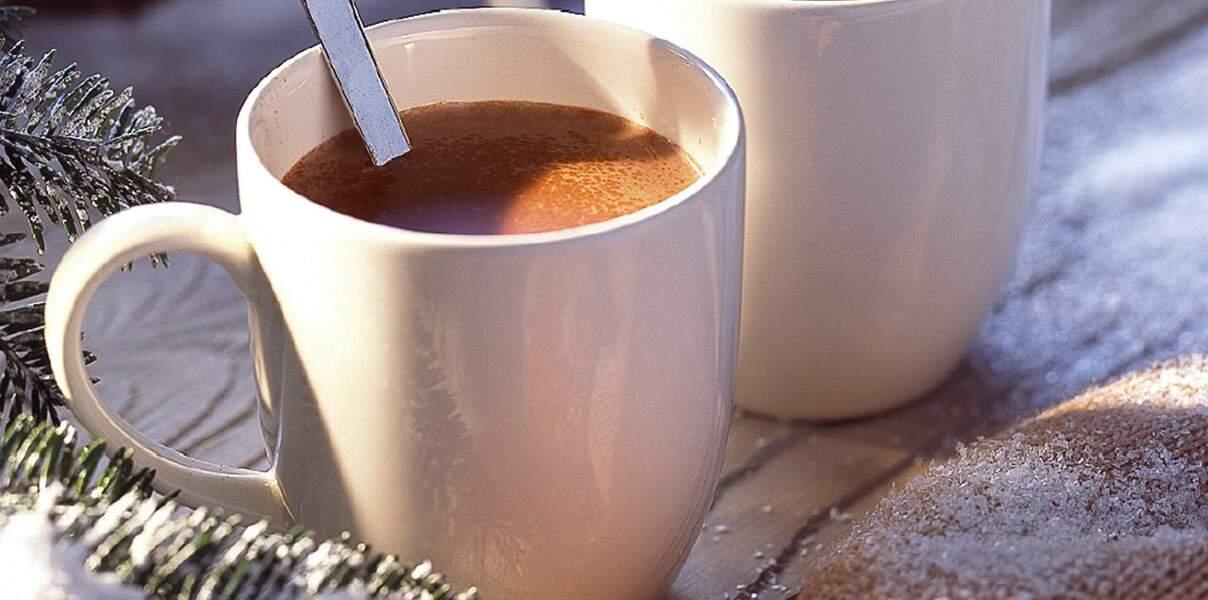 Chocolat chaud parfumé au rhum