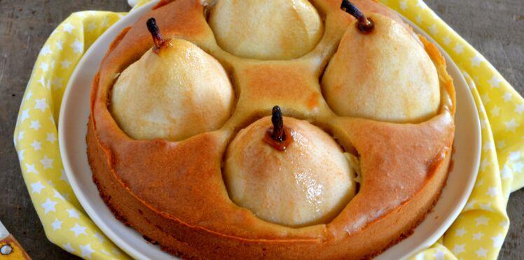 Gâteau rustique poires et miel