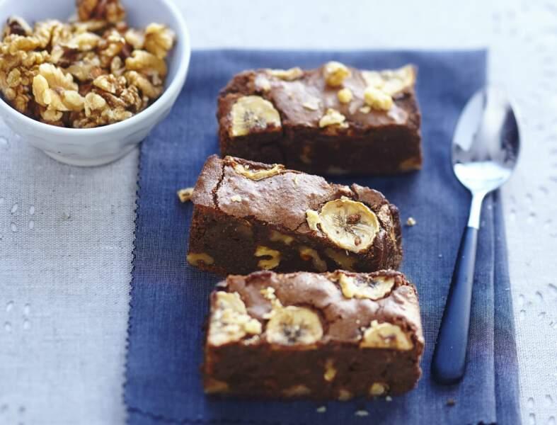 Brownie fondant chocolat-banane