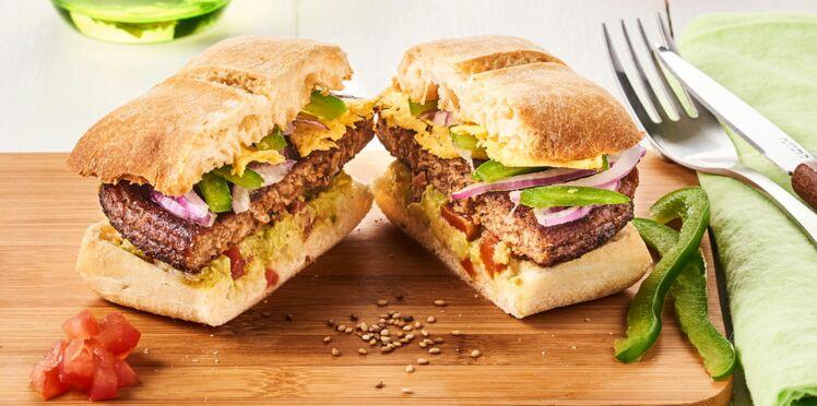 Veggie burger mexicain