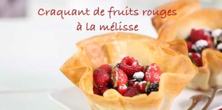 Craquant de fruits rouges à la mélisse