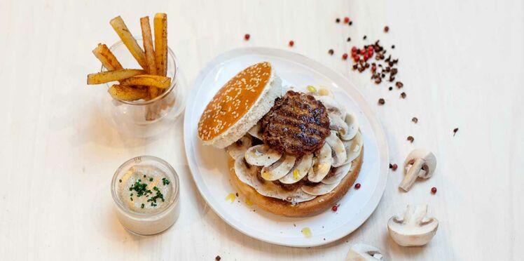 Burger parisien aux champignons de Julia Sedefdjian