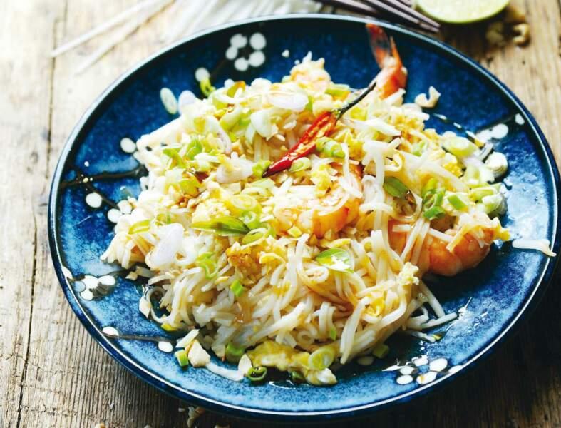 Pad Thaï aux crevettes