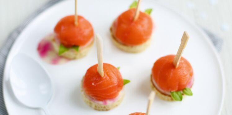 Sucettes de saumon fumé