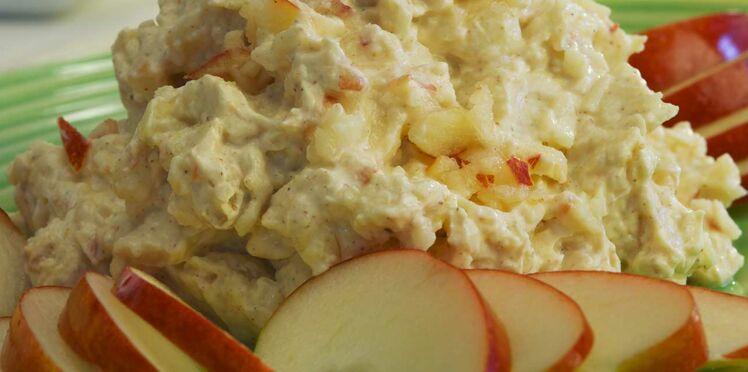 Pomme Jazz et sa crème épicée au piment d'espelette