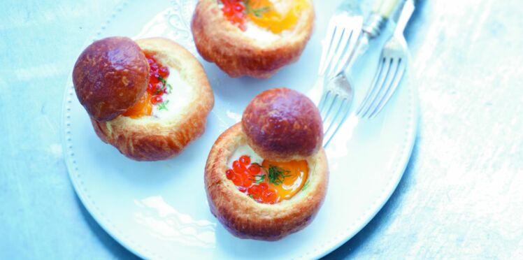 Brioche cocotte aux œufs de saumon