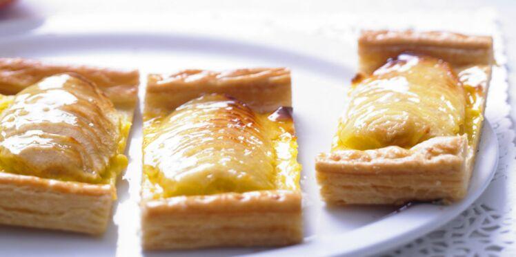 Tarte aux pommes et crème patissiere