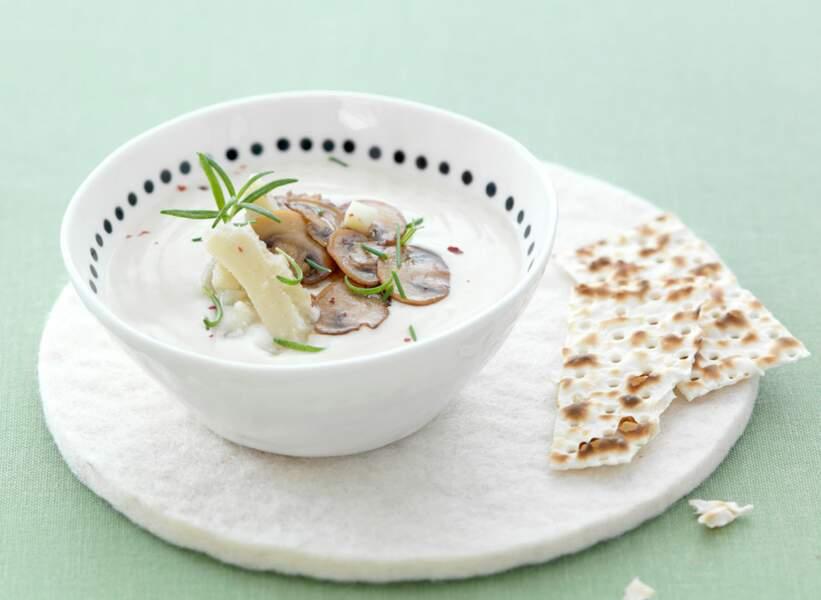 Crème d'Artichauts & Carpaccio de champignons