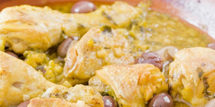 Poulet aux olives marocain