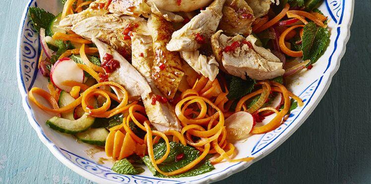 Salade de poulet teriyaki