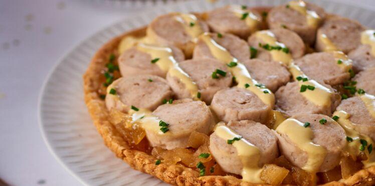 Tartelette de boudin blanc et compote de pommes aux épices de Philippe Etchebest
