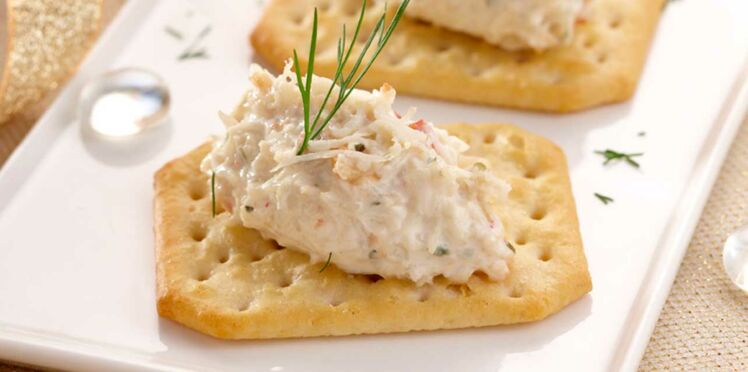 Tartines de crabe et fromage Fouetté