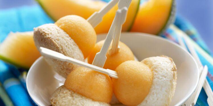 Rochers noix de coco et melon