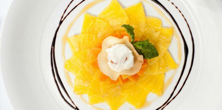 Tartare d'ananas à la coriandre
