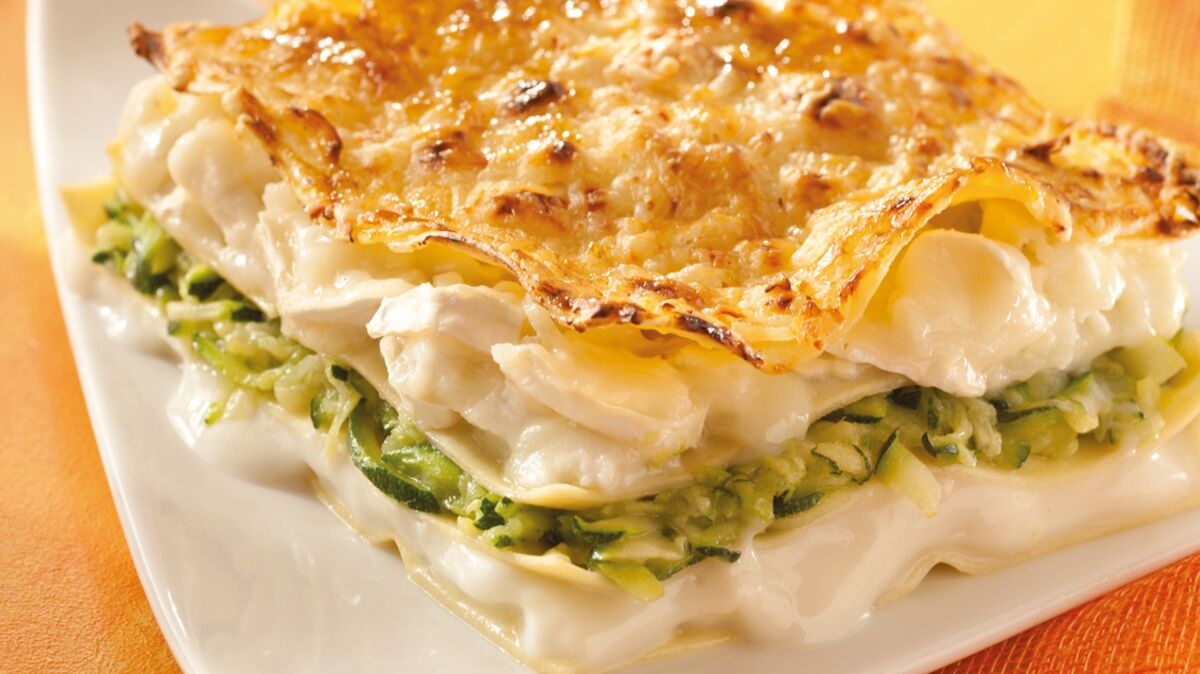 Lasagnes aux courgettes et au fromage de chèvre