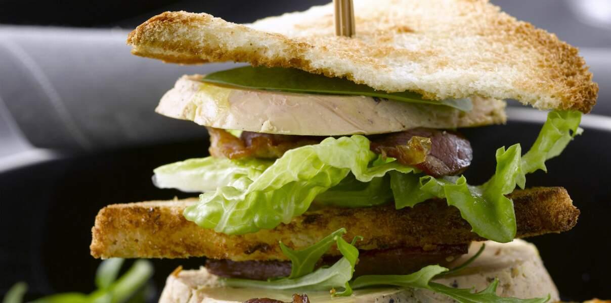 Club sandwich foie gras et magret