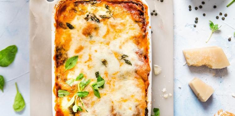 Lasagne végétarienne aux lentilles vertes