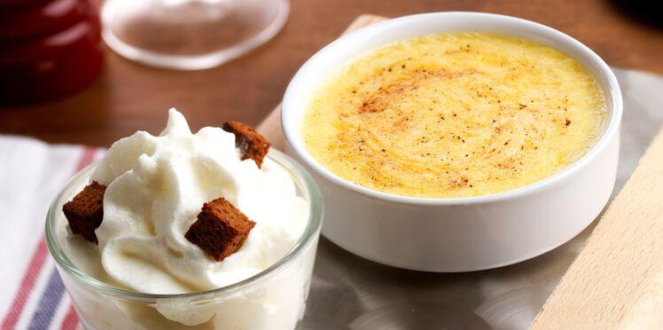 Mousse et crème brûlée à l'époisses