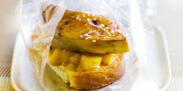 Foie gras poêlé, pain d'épices et pommes