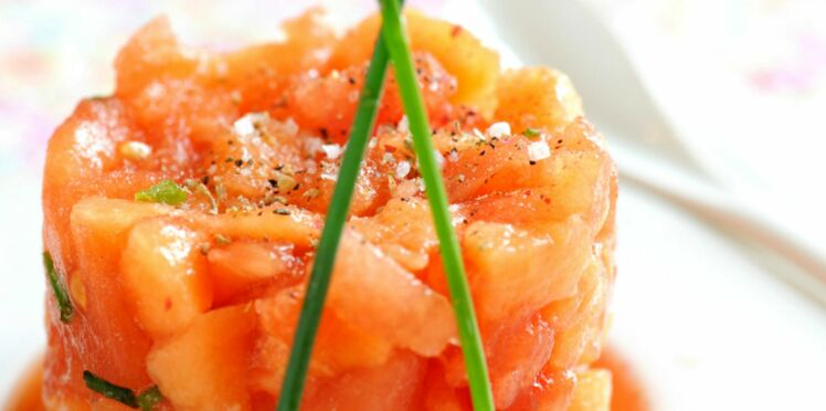 tartare aux tomates et au melon