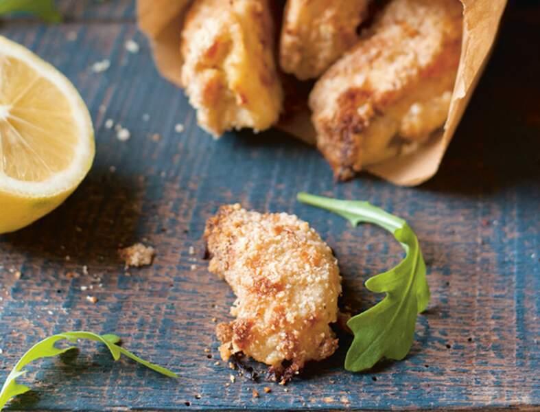 Nuggets croustillants au citron, amande et son d'avoine