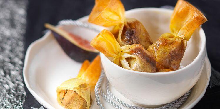 Bonbons au foie gras et à la confiture de figues