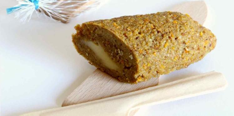 Saucisson de fromage en croûte de seigle à l'orange