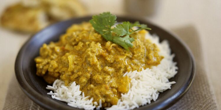 Emincé de dinde au curry