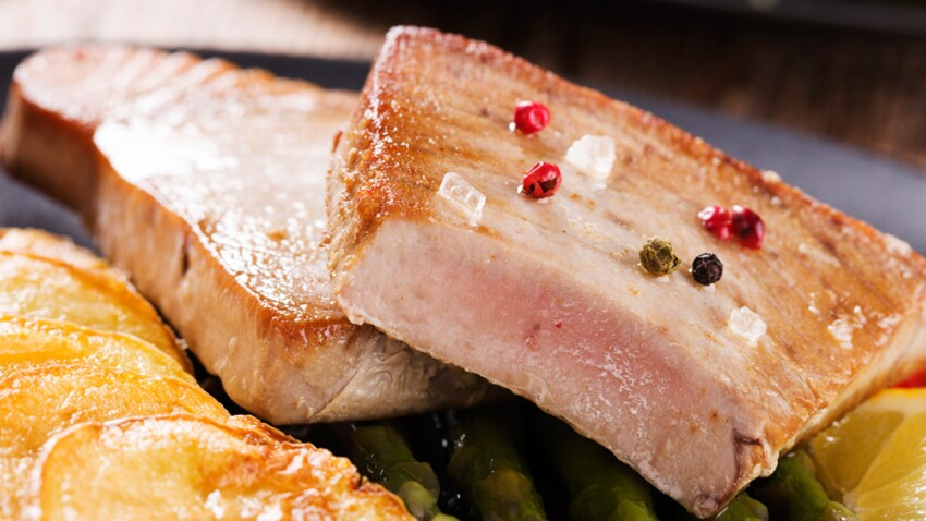 Steak de thon poêlé