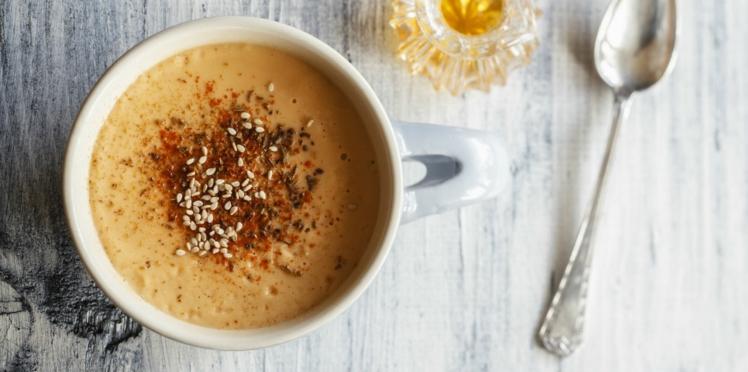 Soupe à l'oignon et au sésame